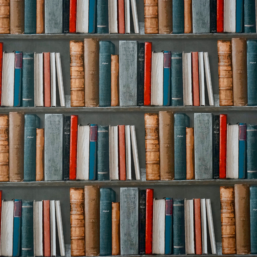 Image of a shelf full of different books